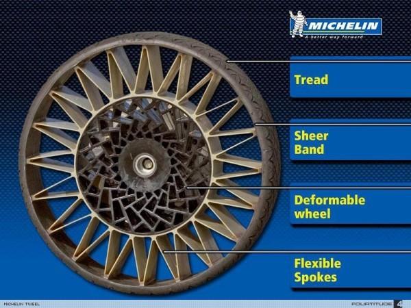 Michelin und General Motors entwickeln luftlose Reifen uptis die bestandteile der neuen reifen