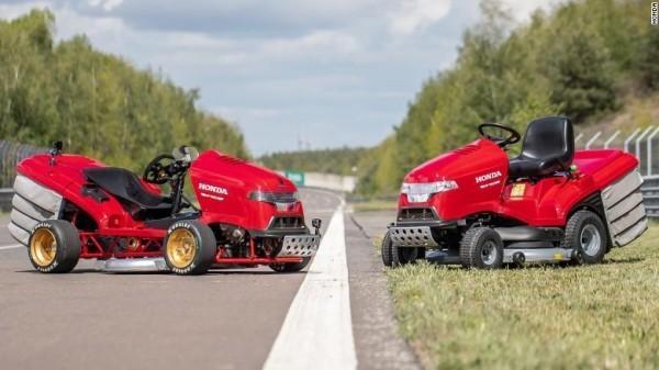 Schnellster Rasenmäher der Welt Mean Mower erreicht 242 kmh honda modell 1 und 2