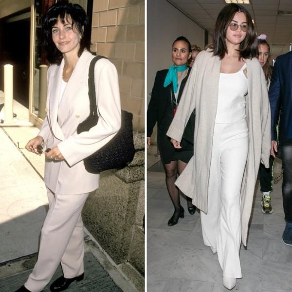 Selena und Courtney Cox - weißer Stil
