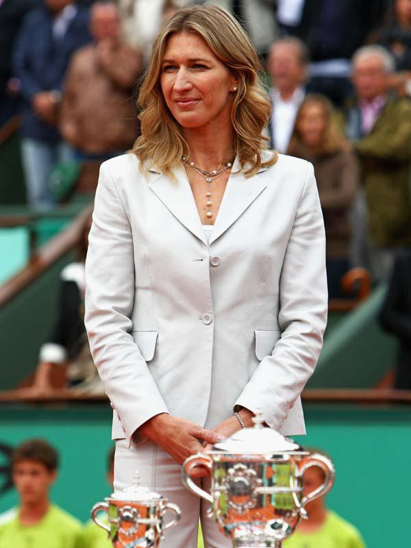 Steffi Graf 50.Geburtstag heute in der Jury der größten Tennisturniere