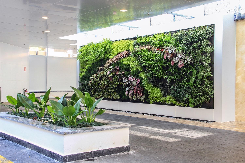 Tolle Insel der Frische Grüne Wandgestaltung