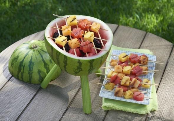 Wassermelone gesund Sommerfrucht gegrillte Wassermelone Nährwerte