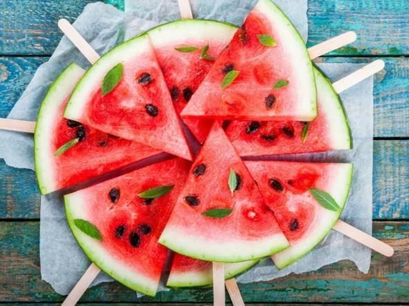 Wassermelone gesund Stäbchen Wassermelone Nährwerte