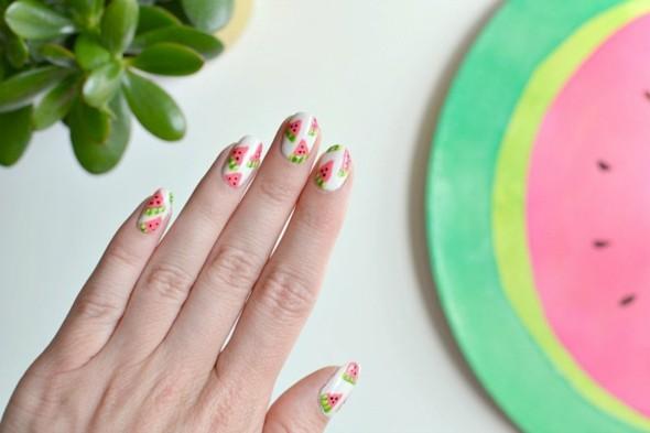 Wassermelone gesund Wassermelone Nagellack Ideen Sommertrends