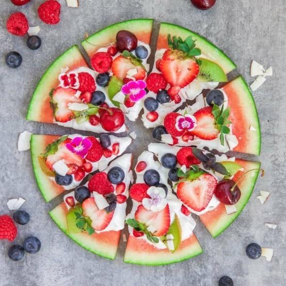 Wassermelone gesund Wassermelone Pizza