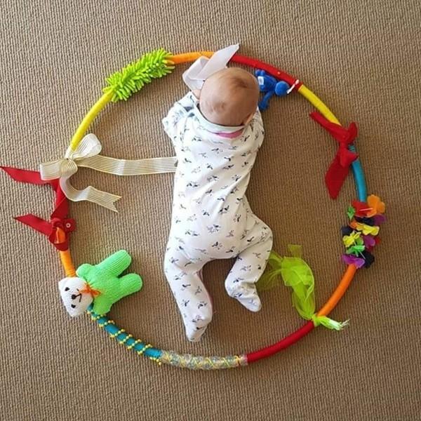 diy hula hoop idee für baby