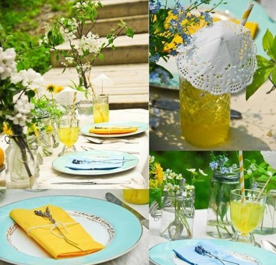 einfache sommerliche tischdeko mit liebe gestalten