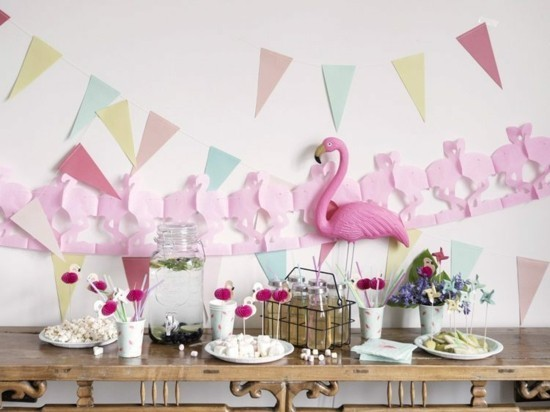 flamingo party sommerliche tischdeko ideen