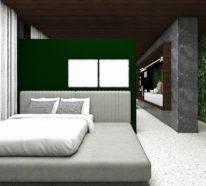 Moderne Einrichtung: Ideen für grüne Wandgestaltung von Grão House und andere Ideen