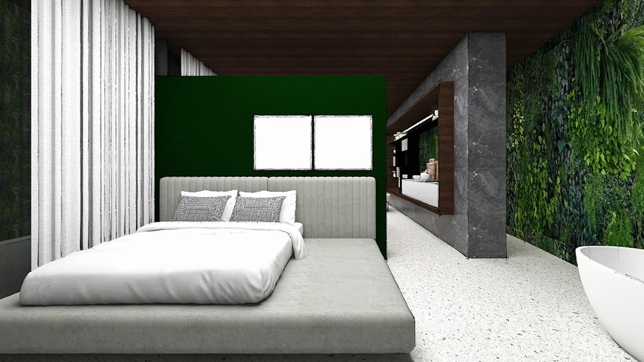 mehrere grüne Wände Traumhaus