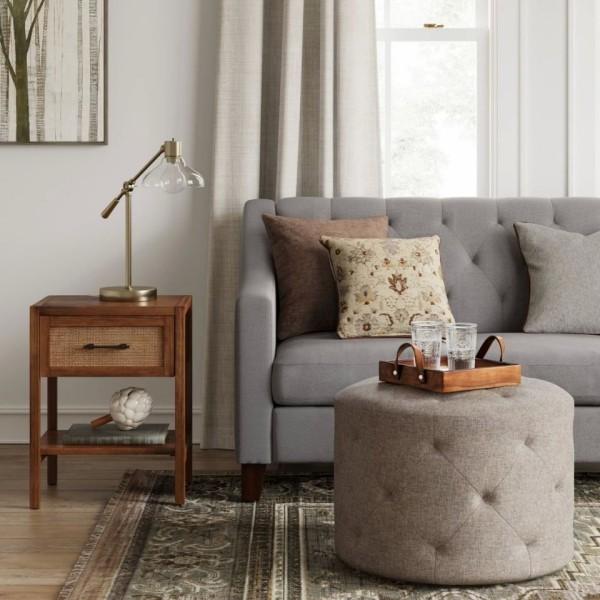 platzsparend graue, toll gepolsterte Möbel
