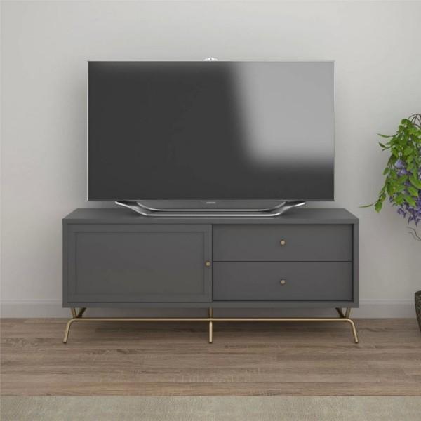 platzsparend grauer tisch tv