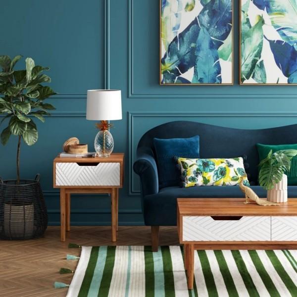 platzsparend - tolles blaues Zimmer