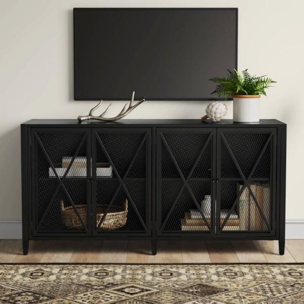 platzsparende Möbel in edler schwarzer Farbe