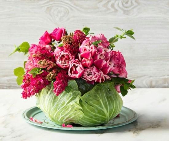 kohl vase selber machen als sommerliche tischdeko