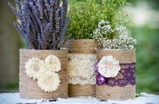 sommerliche tischdeko ideen mit lavendel und schleierkraut