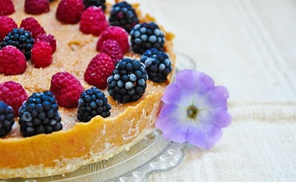 sommerlicher kuchen ohne backen mit zitrusfrüchten und beeren