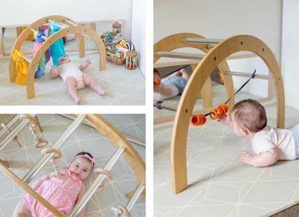 spielbogen baby selber bauen