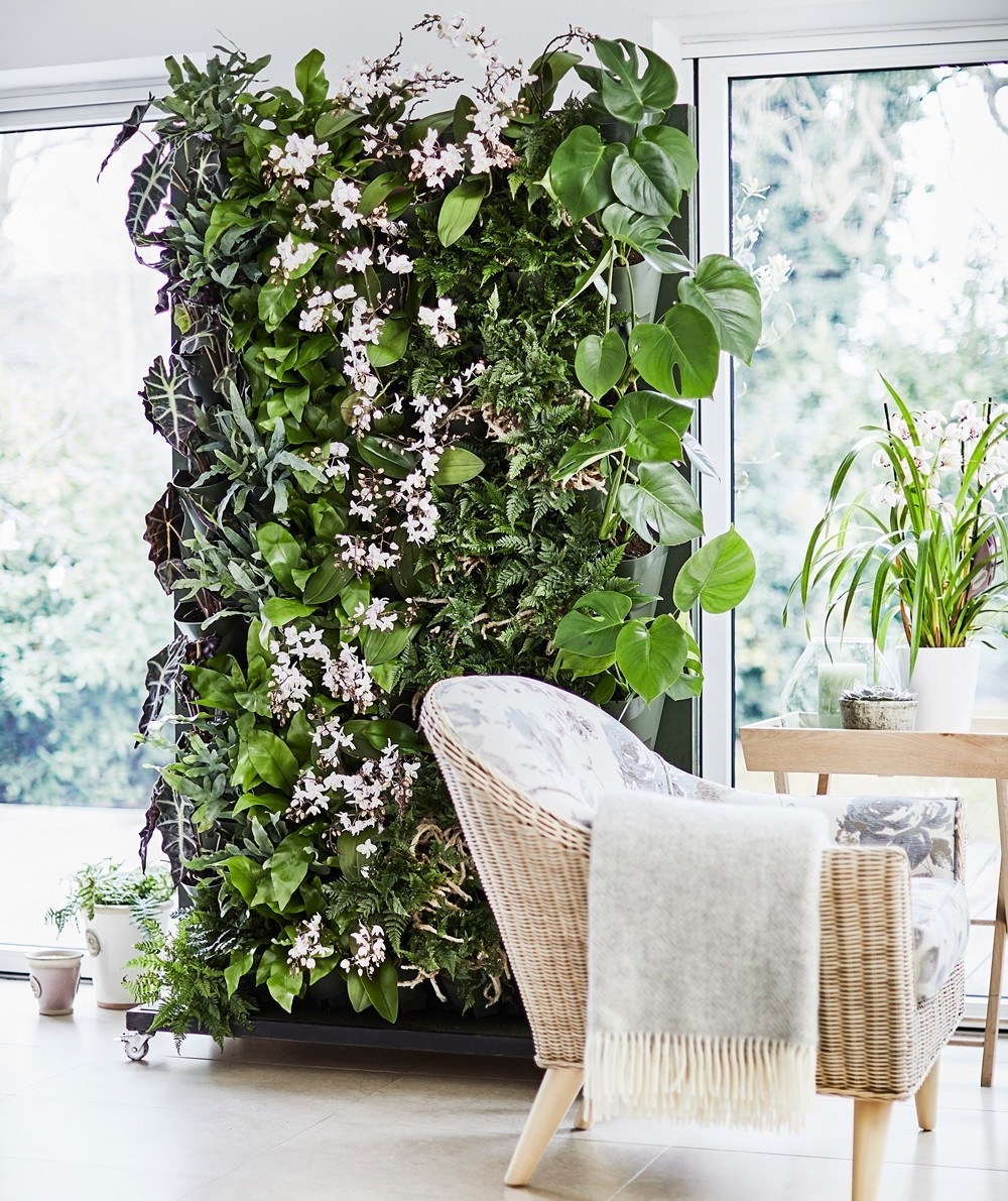 tolle pflanzliche Skulptur Grüne Wandgestaltung