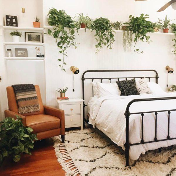 tolles Schlafzimmer Grüne Wandgestaltung