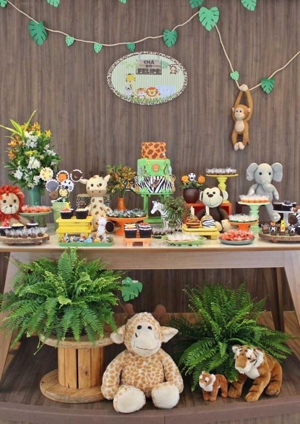 verschiedene tiere aus dr dschungel beim kindergeburtstag