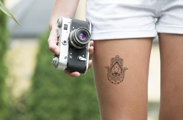 wanderlust hamsa tattoo klein
