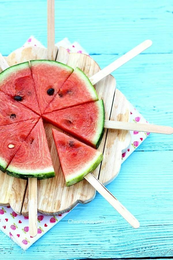 wassermelone ideen natürliches eis am stiel