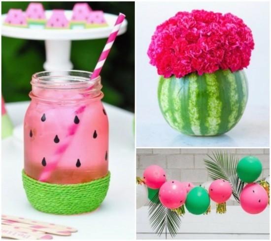 wassermelone party sommerliche tischdeko ideen