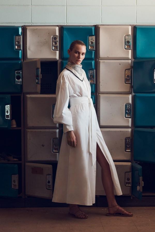 weißes Oberteil Damenkleider