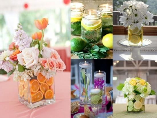 wunderschöne sommerliche tischdeko ideen mit blumen und früchten