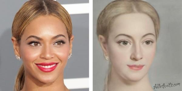 AI Portraits verwandelt Ihr Selfie in ein Renaissance Porträt beyonce