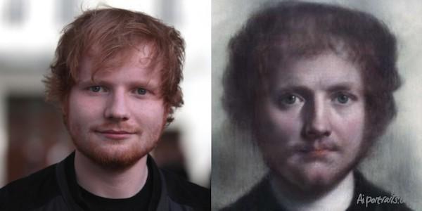 AI Portraits verwandelt Ihr Selfie in ein Renaissance Porträt ed sheeran