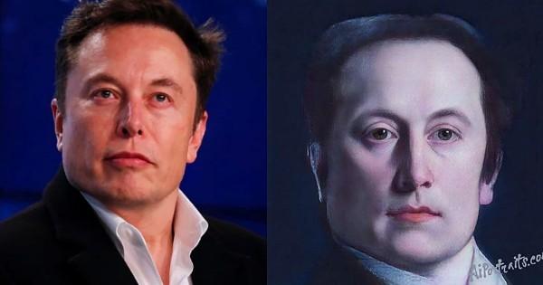 AI Portraits verwandelt Ihr Selfie in ein Renaissance Porträt elon musk