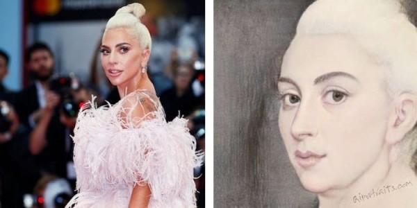 AI Portraits verwandelt Ihr Selfie in ein Renaissance Porträt lady gaga