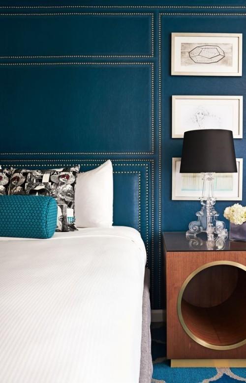 Akzentwand moderne Wandgestaltung Schlafzimmer