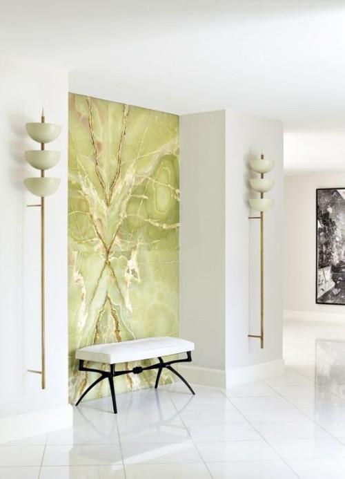 Akzentwand moderne Wandgestaltung meisterhaft gestaltet im Flur Ausdruck der Persönlichkeit