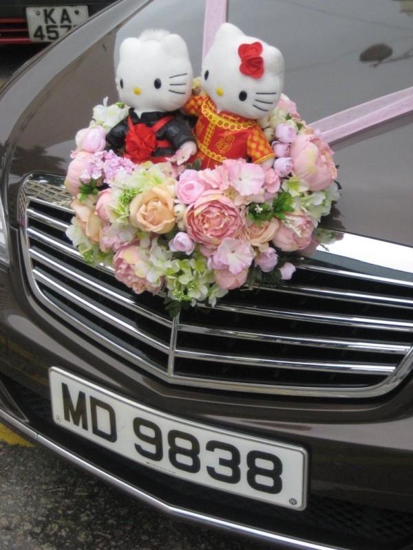 Autoschmuck Hochzeit Thema Kätzchen