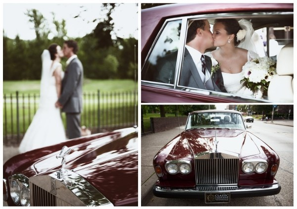 Autoschmuck Hochzeit klassischer Stil
