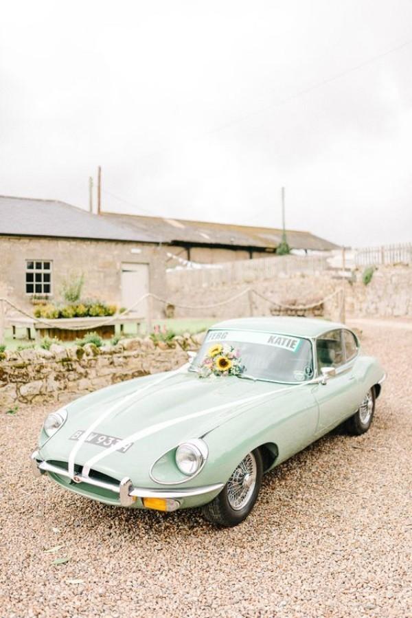 Autoschmuck Hochzeit - tolle helle Farbe