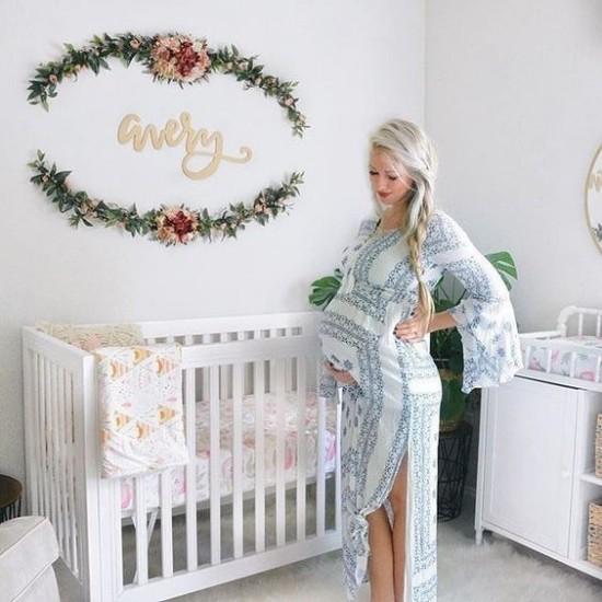 Babyzimmer Deko Ideen Vorfreude ausdrücken persönlich dekorieren Name des Babys