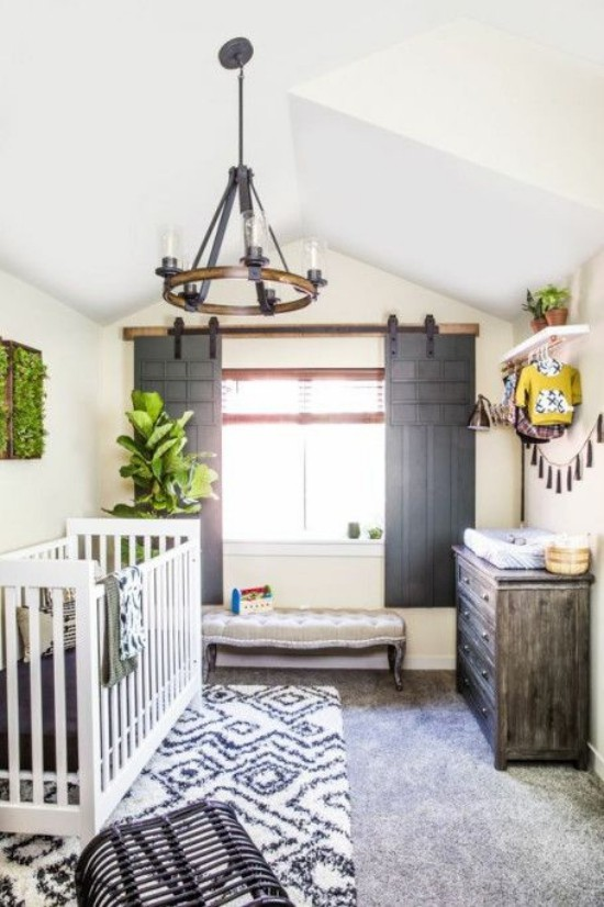 Babyzimmer Deko Ideen in Boho Bauernhaus Stil schönes Ambiente behaglich ansprechend