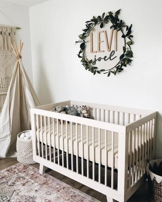 Babyzimmer Deko Ideen in Boho Stil Liebe Behaglichkeit ausstrahlen