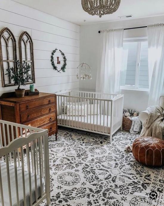 Babyzimmer Deko Ideen in Boho Stil für Zwillinge mit Liebe zum Detail gestaltet