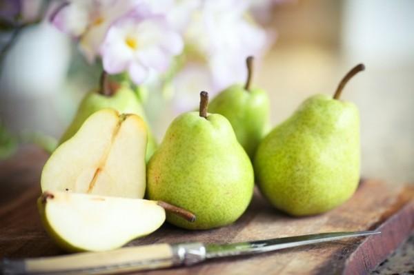 Ballaststoffreiche Lebensmittel Liste Birnen zum Frühstück
