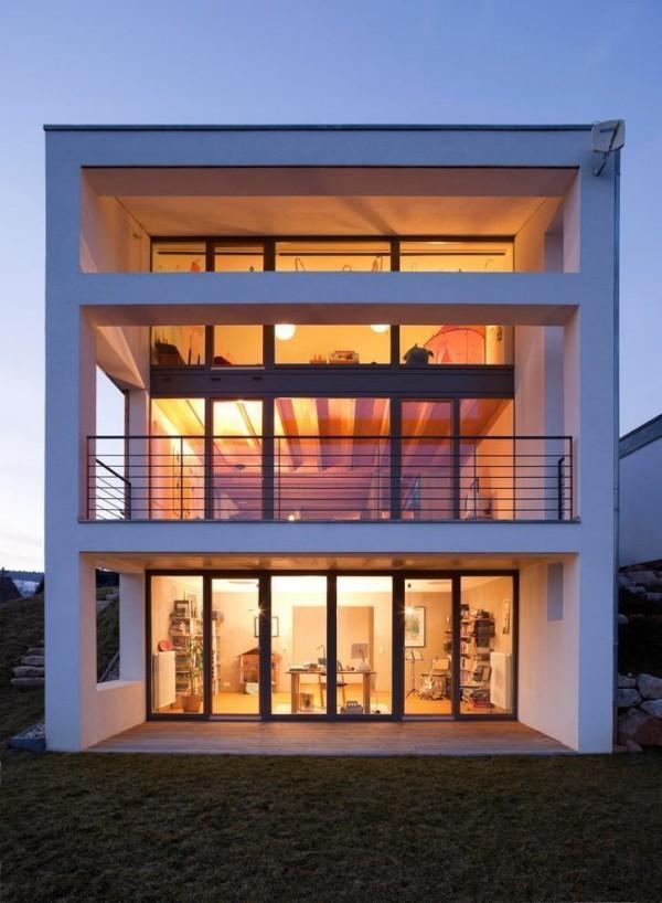 Bildschirm Form moderne Häuser