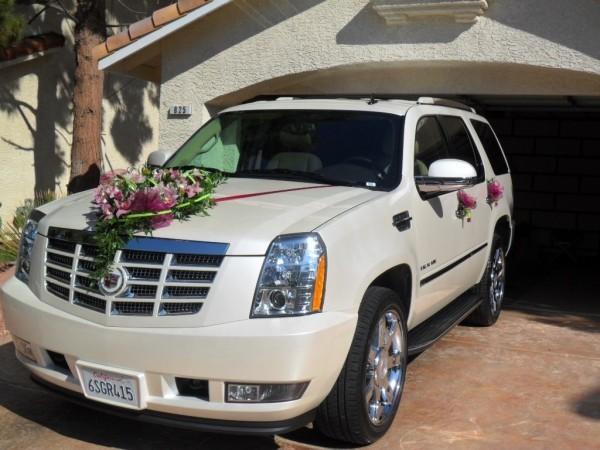 Blumenstrauss - toller Autoschmuck Hochzeit