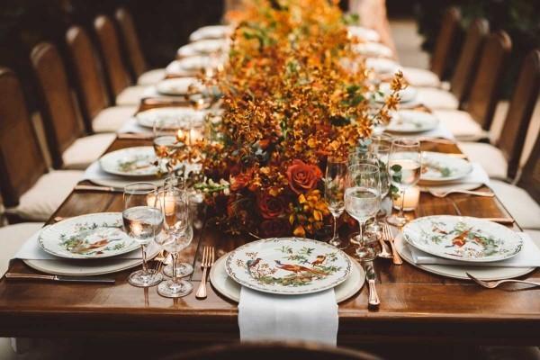 Charmante herbstliche Hochzeitsdeko