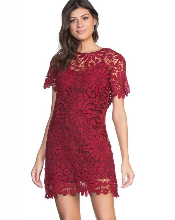 Damenkleider tolles rotes Kleid