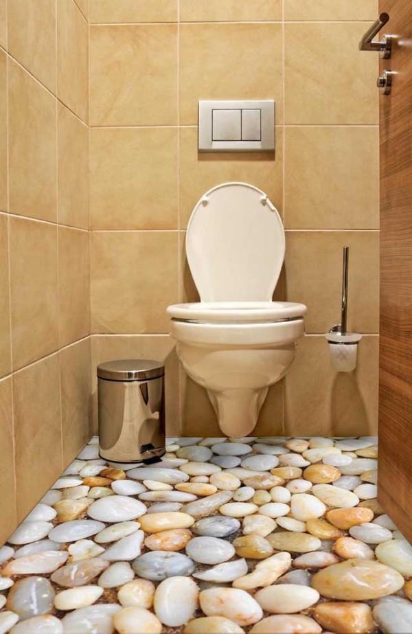 Design-Inspiration - Flusssteine im Bad