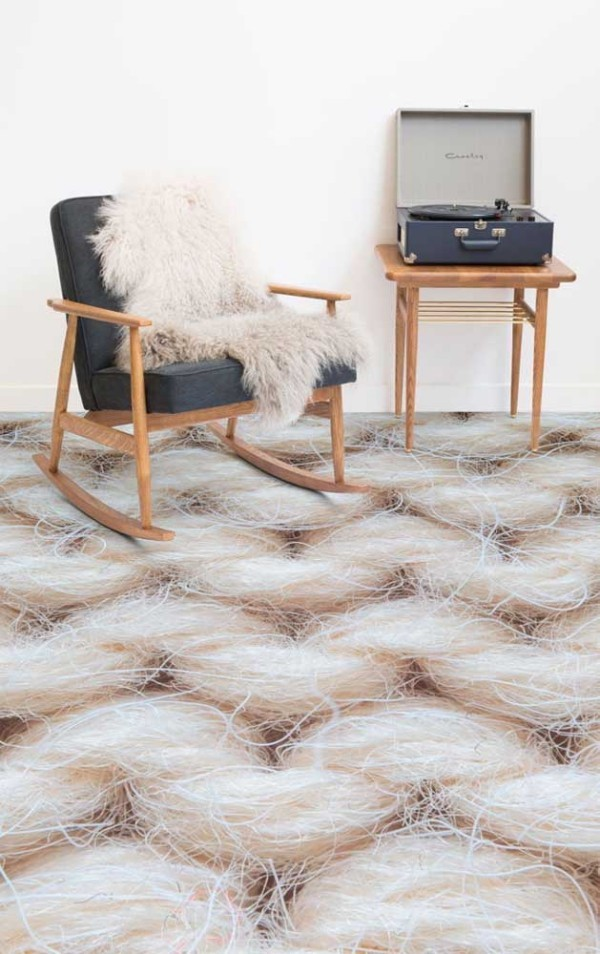 Design-Inspiration Immitation von Wolle